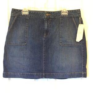 LOFT Denim Skirt Size 12 NWT